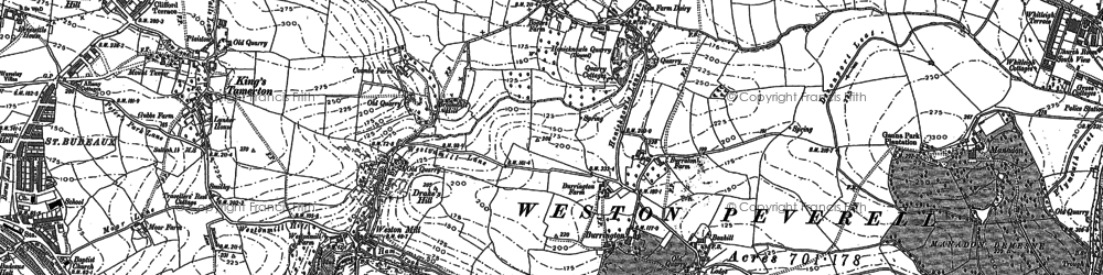 Old map of Manadon in 1912