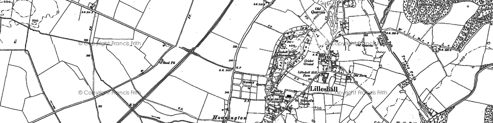 Old map of Lilleshall Grange in 1881