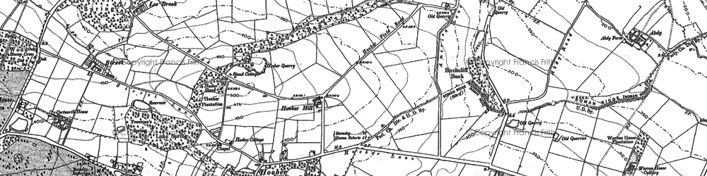 Old map of Lea Brook in 1890
