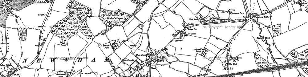 Old map of Hook in 1894