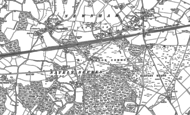 Old Map of Hook Common, 1894