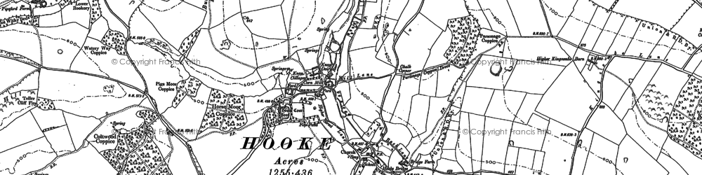 Old map of Westcombe Coppice in 1886