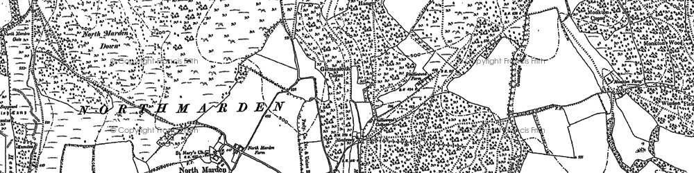 Old map of Winden Wood in 1896