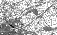 Old Map of Hoole, 1898