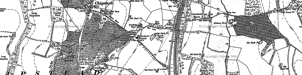 Old map of Hooley in 1895