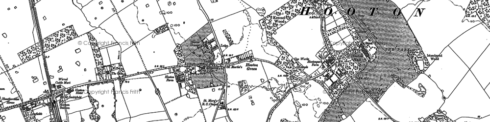Old map of Hooton in 1897