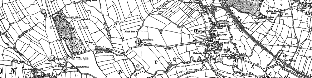 Old map of Hope in 1897