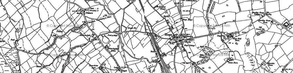 Old map of Tir-y-fron in 1898