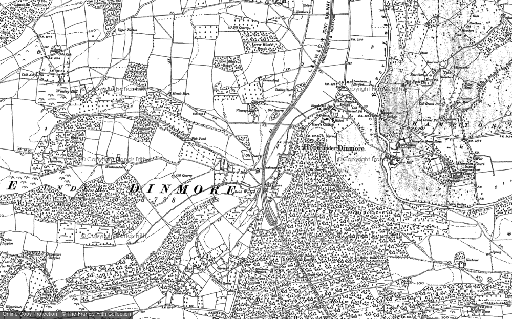 Old Map of Historic Map covering Woodmanton in 1885