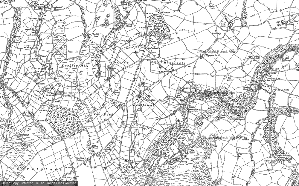 Old Map of Historic Map covering Leigh Manor in 1882