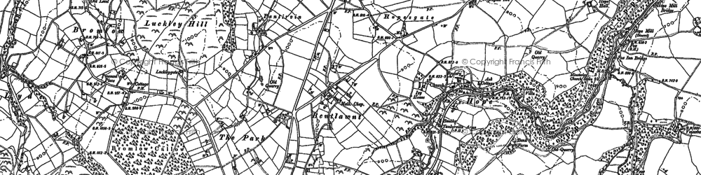 Old map of Leigh Manor in 1882