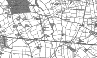 Old Map of Hopperton, 1892