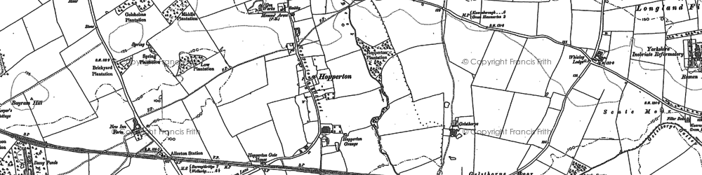 Old map of Allerton Grange in 1892