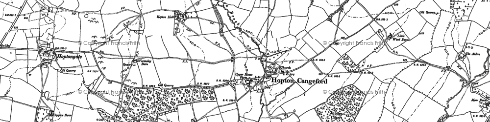 Old map of Witchcot in 1883