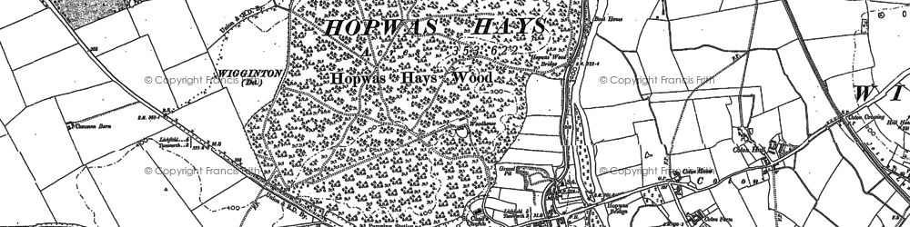 Old map of Hopwas in 1900