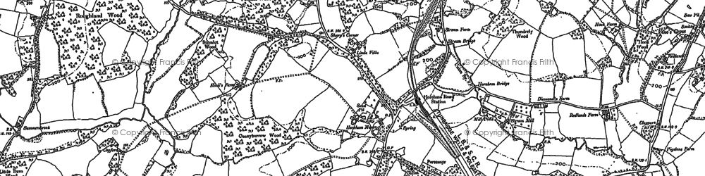Old map of Horam in 1897