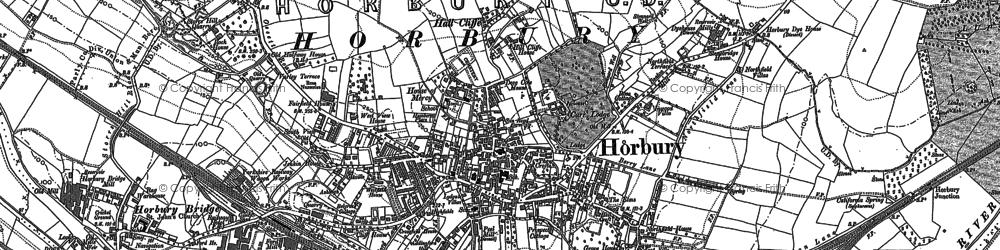 Old map of Horbury in 1890