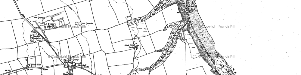 Old map of Yoden Village in 1896