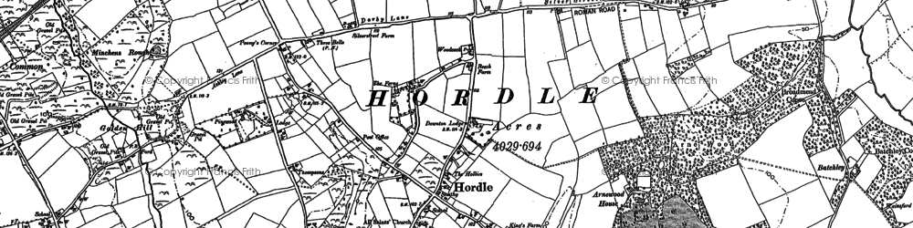 Old map of Yeatton Ho in 1896