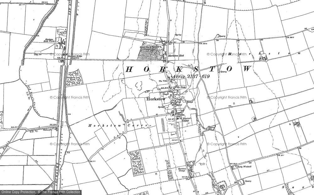 Old Map of Horkstow, 1886 in 1886