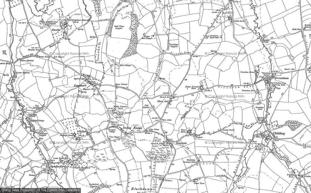 Old Map of Historic Map covering Laymore in 1901