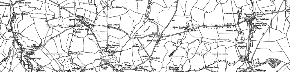 Old map of Laymore in 1901