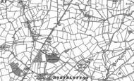 Old Map of Hornblotton, 1885