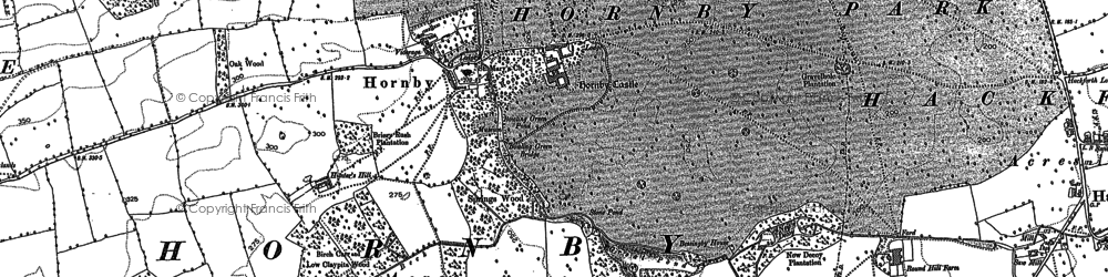 Old map of Hornby in 1891