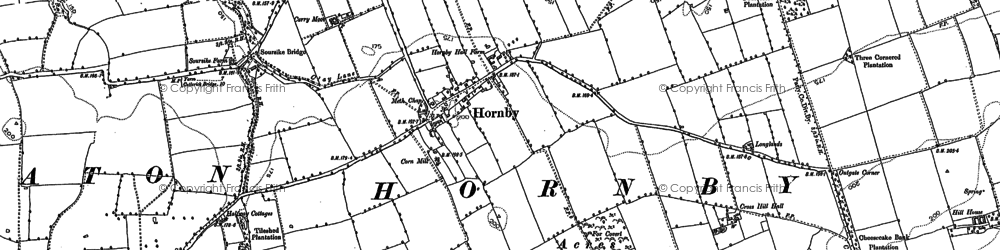 Old map of West Worsall in 1892