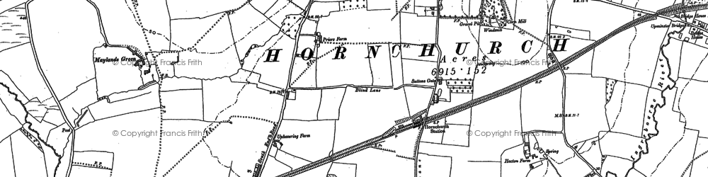 Old map of Hornchurch in 1895