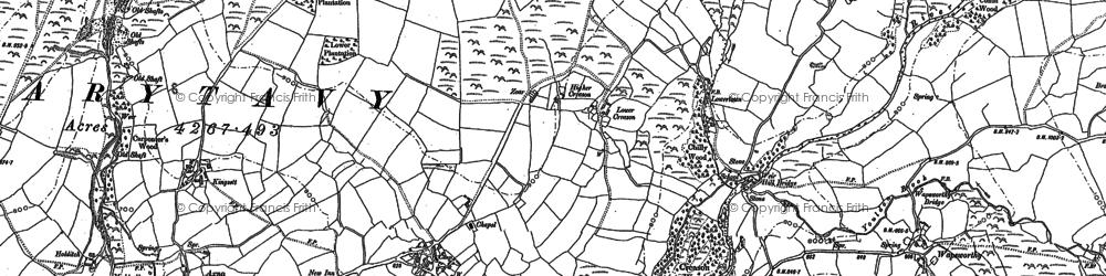 Old map of Zoar in 1883