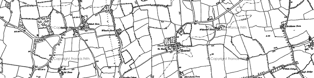 Old map of Horne in 1895