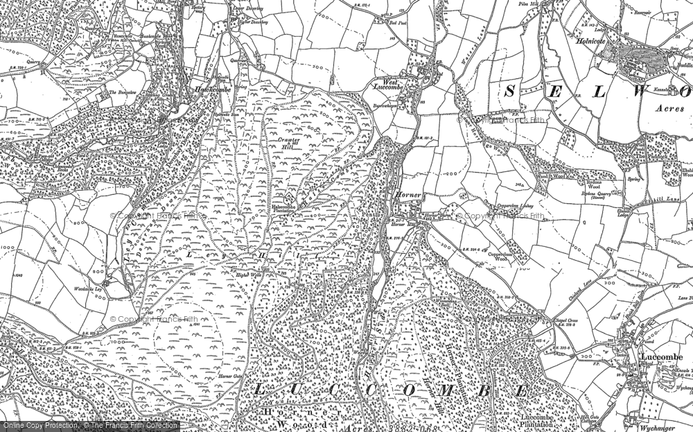 Old Map of Horner, 1902 in 1902