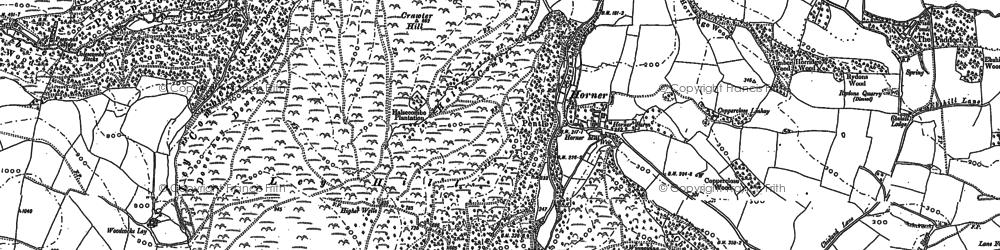 Old map of Horner in 1902