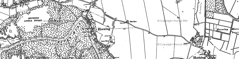 Old map of Woodbastwick Fens & Marshes in 1880