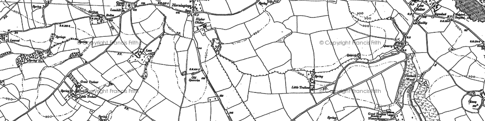 Old map of Horningtops in 1882