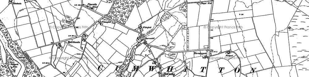 Old map of Thwaites in 1898