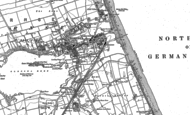 Old Map of Hornsea, 1909