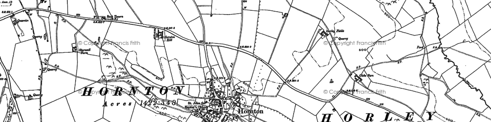 Old map of Bush Hill in 1899
