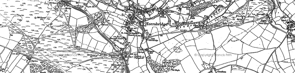 Old map of Horrabridge in 1883