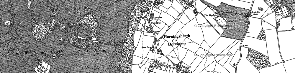 Old map of Adkin's Wood in 1883