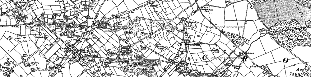 Old map of Horsedowns in 1877