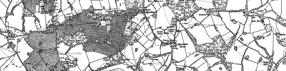 Old map of Wickens in 1907