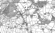 Old Map of Horsford, 1882 - 1884