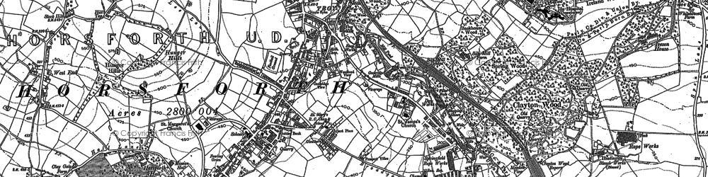 Old map of Horsforth in 1891