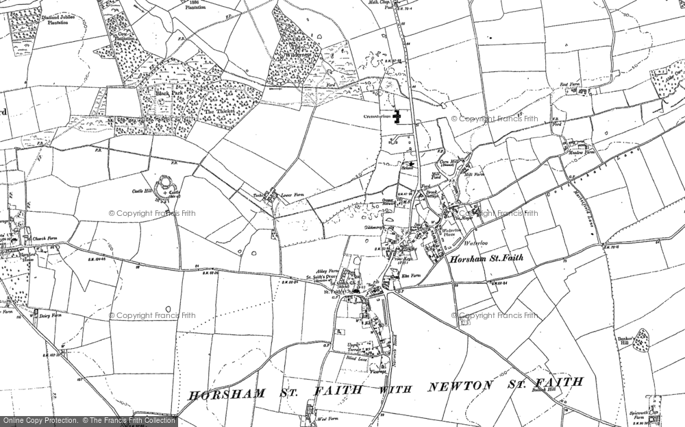Old Map of Horsham St Faith, 1882 - 1884 in 1882