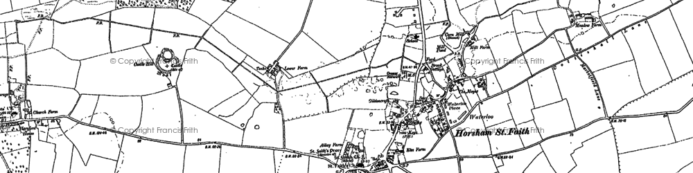 Old map of Horsham St Faith in 1882