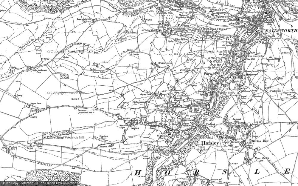 Old Map of Historic Map covering Tiltups End in 1882