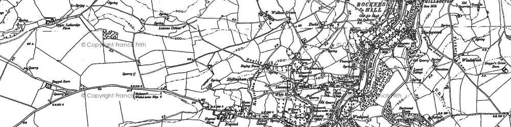 Old map of Barton End in 1882