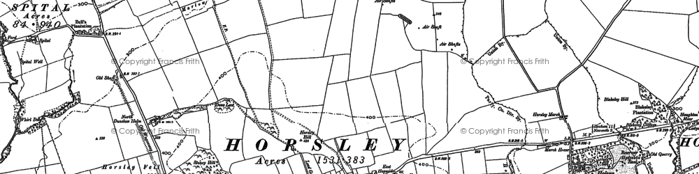 Old map of Whittle Burn in 1895